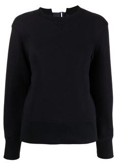 Sacai rear strap-fastened sweater