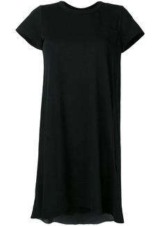 Sacai round neck T-shirt dress