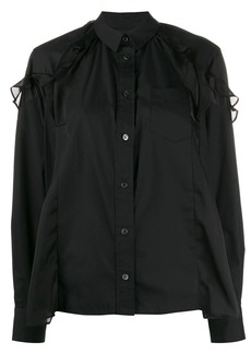 Sacai ruffle trim asymmetric shirt