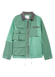 Sacai Cotton & Nylon Oxford Jacket
