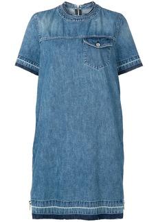 Sacai denim peplum T-shirt dress - Blue