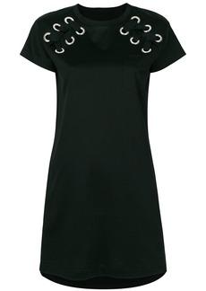 Sacai eyelet laced T-shirt dress - Black
