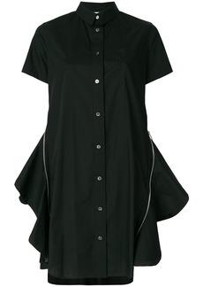 Sacai flared shirt dress - Black