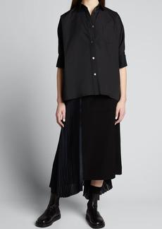 SACAI Half-Sleeve Poplin Shirt