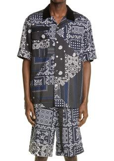 Sacai Hank Willis Thomas Archive Patchwork Short Sleeve Button-Up Shirt