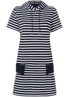 Sacai horizontal stripe T-shirt dress - Blue