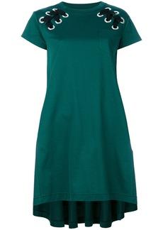 Sacai laced shoulder T-shirt dress - Green