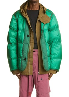 Sacai Layered Down Puffer Jacket