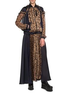 43894186065a5 SACAI Leopard-Print Zip-Front Plisse Maxi Dress