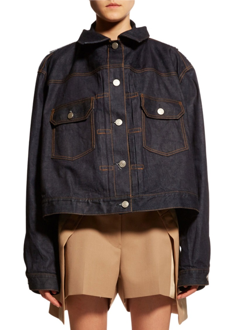 SACAI Oversized Two-Layer Denim Jacket