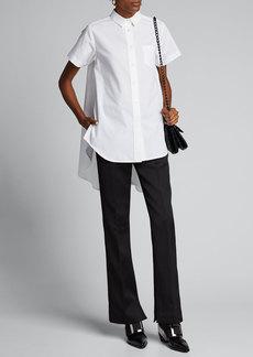 SACAI Poplin High-Low Shirt