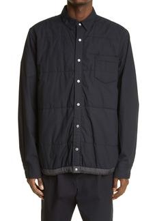 Sacai Quilted Cotton Shirt Jacket