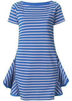 Sacai ruffle vent T-shirt dress - Blue