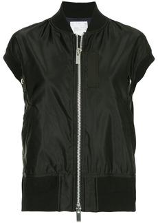 Sacai sleeveless bomber jacket - Black