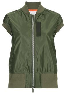 Sacai sleeveless bomber jacket - Green