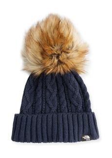 SACAI The North Face® Cable Knit Hat with Faux-Fur Pompom