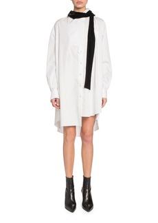 926303429df9c SACAI Velvet Tie-Neck Mini Shirtdress
