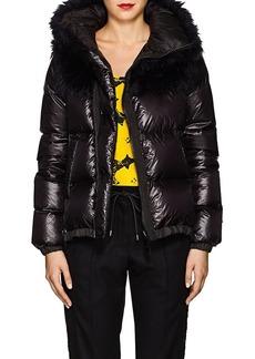 Sacai Women's Faux-Fur-Collar Down Tech-Puffer Coat