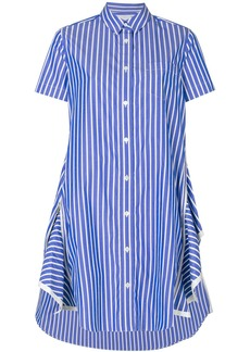 Sacai zipped peplum shirt dress - Blue
