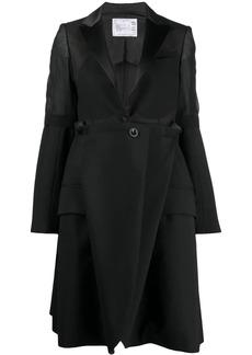 Sacai sheer-panel blazer