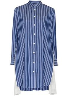 Sacai stripe-pattern long-sleeve shirtdress