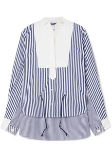 Sacai Striped Cotton-poplin Shirt