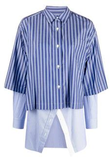 Sacai striped layered shirt