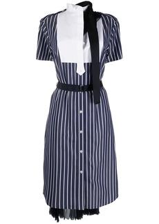 Sacai striped short-sleeve shirt dress