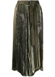 Sacai Sun Surf-print pleated skirt