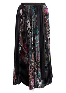 Sacai Sun Surf/Diamond Head Pleated Midi Skirt
