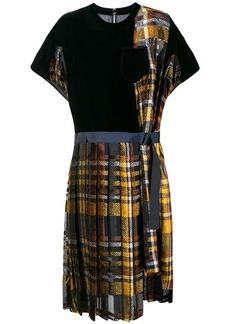 Sacai tartan T-shirt dress