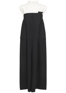 Sacai Tailored Tech & Wool Long Dress