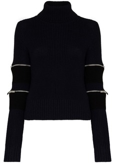 Sacai turtleneck zip-sleeve jumper
