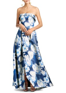 Sachin + Babi Sachin & Babi Brielle Floral Strapless Gown