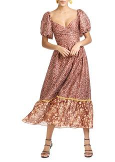 Sachin + Babi Sachin & Babi Jenna Mixed Print Ruffle Hem Dress