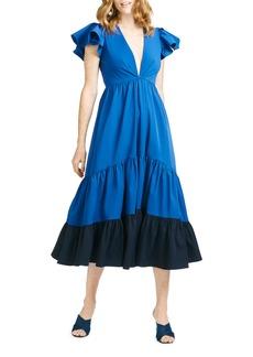 Sachin + Babi Sachin & Babi Lori Colorblock Twill Midi Dress