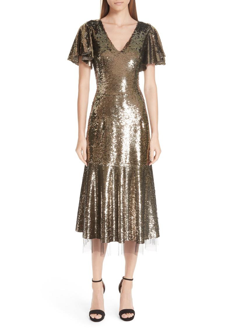 ba6175d7a48d Sachin + Babi Sachin & Babi Ruffle Trim Sequin Dress | Dresses