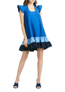 Sachin + Babi Sachin & Babi Sharla Oversize Ruffle Cap Sleeve Dress