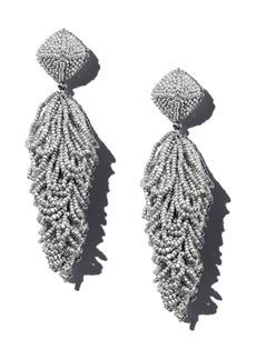 Sachin + Babi Sachin and Babi Lulus Silk Georgette Clip-On Drop Earrings
