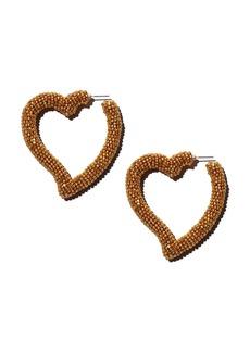 Sachin + Babi Sachin and Babi Silk Georgette Heart Drop Earrings