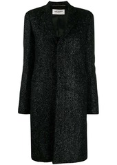 Saint Laurent knitted style chesterfield coat