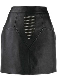 Saint Laurent studded leather skirt
