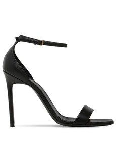 Saint Laurent 105mm Amber Leather Sandals