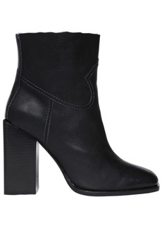 Saint Laurent 105mm Jodie Raw Trim Leather Boots