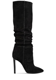 Saint Laurent 105mm Mica Suede Slouchy Boots