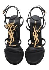 Saint Laurent 115mm Cassandra Leather Wedges