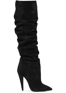 Saint Laurent 115mm Era Slouchy Suede Boots