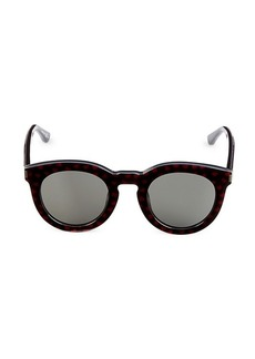 Saint Laurent 47MM Heart-Print Pantos Sunglasses