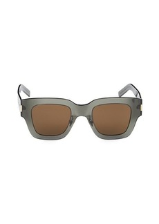 Saint Laurent 48MM Square Sunglasses