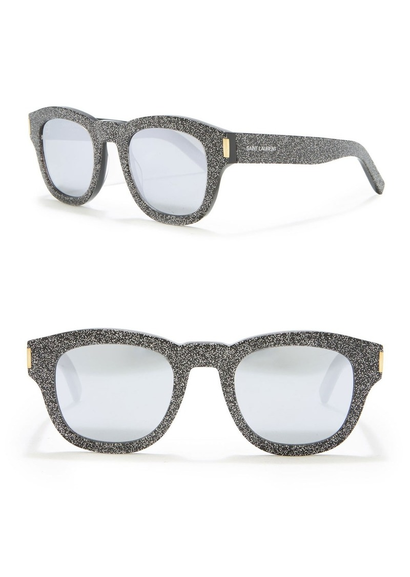 Saint Laurent 49mm Glitter Square Sunglasses